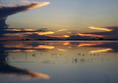 Tour 50 - Namibia - Botswana - Sunset on flooding Chobe River