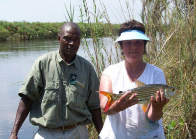 Tour 69 - Botswana Tigerfishing - Her first Tiger